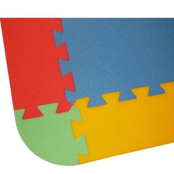 Rand für Bodenmatte UNO 12 - 4 Farben, 18 Teile, 8mm Dicke