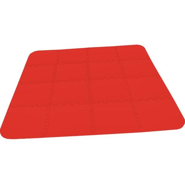 Bodenmatte Puzzlematte UNO Plus (16 Teile) rot - 16 mm - 0+
