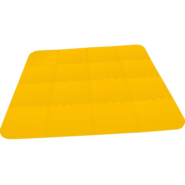 Bodenmatte Puzzlematte UNO Plus (16 Teile) 8 mm - gelb